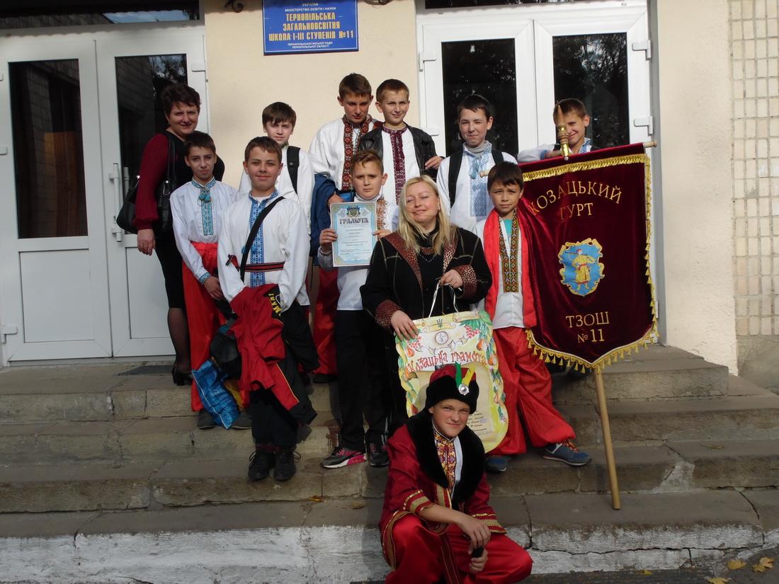 Козацькі забави 2014 школа 11 Тернопіль